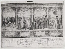 Procession of the Knights of the Garter (sheet 2), after Marcus Gheeraerts the Elder - NPG D31854