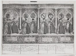 Procession of the Knights of the Garter (sheet 4), after Marcus Gheeraerts the Elder - NPG D31856