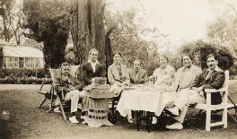 Sir Arnold Bax; Harriet Cohen; Dorothy Moulton-Mayer; Sir Robert Mayer and others, by Elsie Gordon - NPG x20660