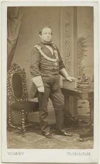 George Frederick Samuel Robinson, 1st Marquess of Ripon and 3rd Earl de Grey, by James Townsend Wigney, mid-late 1860s - NPG x13393 - © National Portrait Gallery, London