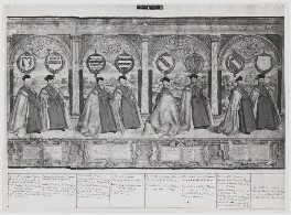 Procession of the Knights of the Garter (sheet 5), after Marcus Gheeraerts the Elder - NPG D31857
