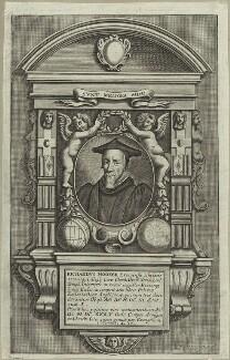 Memorial to Richard Hooker in Bishopsbourne church, by William Faithorne - NPG D25248