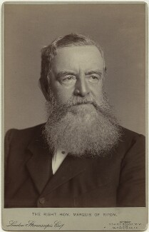 George Frederick Samuel Robinson, 1st Marquess of Ripon and 3rd Earl de Grey, by London Stereoscopic & Photographic Company, 1880s-1890s - NPG x17020 - © National Portrait Gallery, London