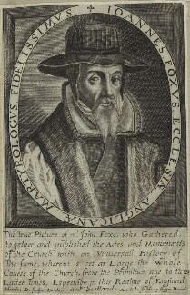 John Foxe, by Martin Droeshout - NPG D25275