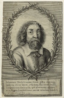 John Tradescant the Younger, by Wenceslaus Hollar, published 1656 - NPG D31866 - © National Portrait Gallery, London