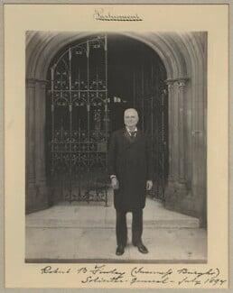 Robert Bannatyne Finlay, 1st Viscount Finlay, by Benjamin Stone - NPG x15822
