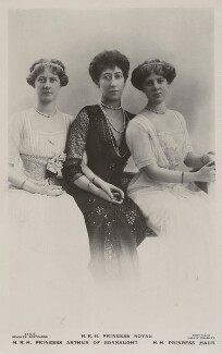 Princess Louise, Duchess of Fife and her daughters, by Lallie Charles (née Charlotte Elizabeth Martin), published by  J. Beagles & Co, early 1910s - NPG x47144 - © National Portrait Gallery, London