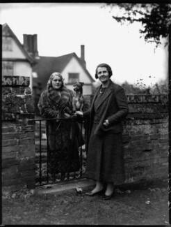 Hon. Judith Florence Bull (née Gurdon); Vera Emily (née Ridley), Lady Cranworth, by Bassano Ltd - NPG x151913
