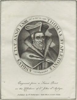 Thomas Stapleton, published by William Richardson - NPG D25301