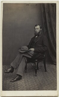 William Edward Forster, by Moses Bowness, published by  Alfred William Bennett - NPG Ax8544
