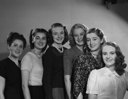 Models from Lucie Clayton College (Jane Lynch; Morna Howard; Georgie Crawford Clifford; Valerie Cox; Grace Wood; Margaret Allworthy), by Bassano Ltd - NPG x73766