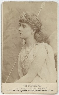May Fortescue (née Finney) as Celia in 'Iolanthe', by Elliott & Fry - NPG x28155