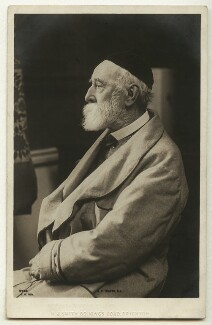 George Frederic Watts, by E.H. Mills, published by  Rotary Photographic Co Ltd - NPG x27299