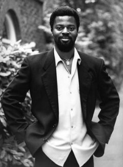 Ben Okri, by Mark Gerson, 1995 - NPG  - © Mark Gerson / National Portrait Gallery, London