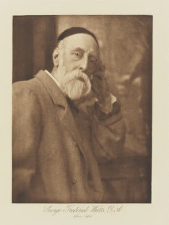George Frederic Watts, by Henry Herschel Hay Cameron (later The Cameron Studio), published by  T. Fisher Unwin - NPG Ax29138