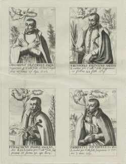 Edward Oldcorn, Roger Filcock, Franciscus Pagius, Robert Southwell, after Unknown artist - NPG D25333