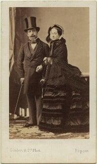 Napoléon III, Emperor of France; Eugénie, Empress of France, by Disdéri - NPG x17111