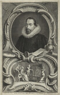 Sir Francis Walsingham, by Jacobus Houbraken, after  Federico Zuccaro - NPG D25355
