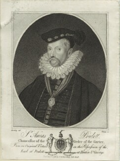 Sir Amias Paulet, by R. Clamp - NPG D25357