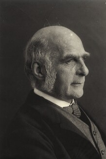 Sir Francis Galton, by Eveleen Myers (née Tennant) - NPG x19814