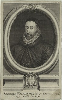 Sir Francis Walsingham, by George Vertue - NPG D25359