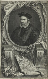 Sir Nicholas Bacon, by Jacobus Houbraken, after  Federico Zuccaro - NPG D25365