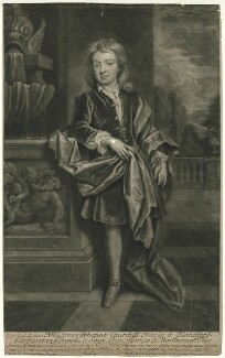 John Churchill, Marquess of Blandford, by and published by John Smith, after  Sir Godfrey Kneller, Bt - NPG D31877