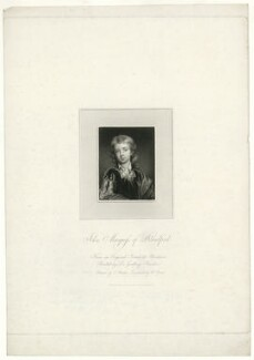 John Churchill, Marquess of Blandford, by William Bond, after  Thomas Uwins, after  Sir Godfrey Kneller, Bt - NPG D31878