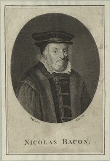 Sir Nicholas Bacon, by James Tookey - NPG D25369