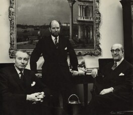 Directors of Arthur Tooth & Sons ((John) Peter Warren Cochrane; David Gibbs; Dudley William Tooth), by Ida Kar - NPG x131019