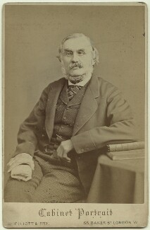 Sir Richard Strachey, by Elliott & Fry - NPG x13037