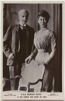 Alexander William George Duff, 1st Duke of Fife; Princess Louise, Duchess of Fife, by Alexander Corbett, published by  J. Beagles & Co - NPG x131021