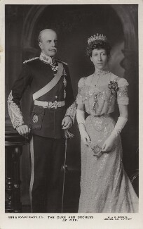 Alexander William George Duff, 1st Duke of Fife; Princess Louise, Duchess of Fife, by W. & D. Downey, published by  Rotary Photographic Co Ltd - NPG x131022