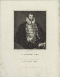 Sir Christopher Hatton, by William Henry Mote, after  Cornelis Ketel - NPG D25372