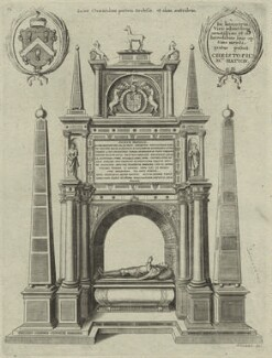 Monument to Sir Christopher Hatton, by Wenceslaus Hollar - NPG D25373