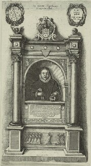 Monument to William Aubrey, by Wenceslaus Hollar, circa 1658 - NPG D25376 - © National Portrait Gallery, London
