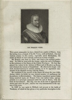 Sir Francis Vere, by Parker - NPG D25395