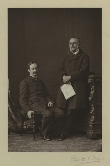 Sir John Strachey; Sir Richard Strachey, by Elliott & Fry - NPG x13857