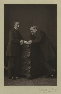 Sir John Strachey; Sir Richard Strachey, by Elliott & Fry - NPG x13066