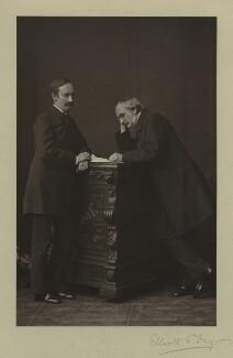 Sir John Strachey; Sir Richard Strachey, by Elliott & Fry, 1876 - NPG x13066 - © National Portrait Gallery, London