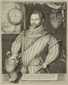 Sir Francis Drake, possibly by Jodocus Hondius, possibly late 16th to early 17th century - NPG D25402 - © National Portrait Gallery, London