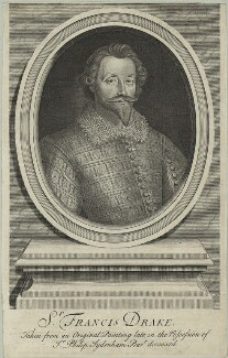 Unknown man engraved as Sir Francis Drake, by Robert White, 1705 - NPG D25404 - © National Portrait Gallery, London