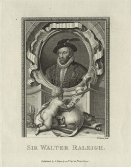 Sir Walter Ralegh (Raleigh), by William Sharp, published by  George Kearsley - NPG D25420