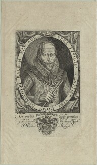 Sir Walter Ralegh (Raleigh), by Simon de Passe, published by  Compton Holland - NPG D25421