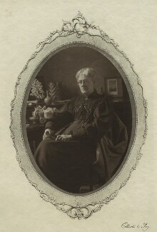 Jane Maria (née Grant), Lady Strachey, by Elliott & Fry, 1890s - NPG x13055 - © National Portrait Gallery, London