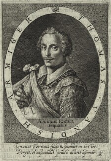 Thomas Cavendish, possibly by Magdalena de Passe, possibly by  Willem de Passe - NPG D25428