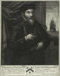 Sir Thomas Gresham, by John Faber Sr - NPG D25431