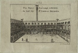 The Royal Exchange in London as built by Thomas Gresham, by Wenceslaus Hollar - NPG D25432