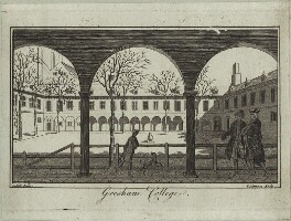 Gresham College, by Thomas Simpson, after  Samuel Wale - NPG D25433