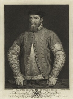 Sir Thomas Gresham, by Jean Baptiste Michel, after  Anthonis Mor (Antonio Moro) - NPG D25438